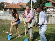 Първа копка на японска градина в Чавдар