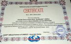 """ЖТХ """"Златолира"""" гр. Златица със сертификат """"Представителен                                                    ансамбъл на CIOFF България"""""""