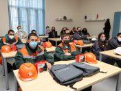 """""""Елаците-Мед"""" и """"Геострой"""" посрещнаха за практическо обучение 8 ученици от първия випуск по проекта за дуално обучение в ПГ """"Златица"""""""